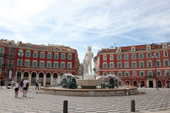 Fontaine du Soleil in Nice, France. Stock Photography