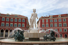 Fontaine du Soleil in Nice, France. Royalty Free Stock Image
