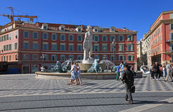 Fontaine du Soleil in Nice, France Stock Photos