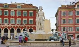 Fontaine du Soleil, Nizza, Frankreich Stockbild
