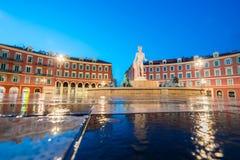 Fontaine du Soleil op Plaats Massena in de Ochtend, Nice, Fr Stock Afbeeldingen