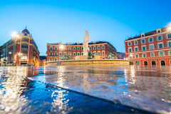 The Fontaine du Soleil on Place Massena in the Morning, Nice, Fr Royalty Free Stock Photo