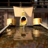 Fontaine en bambou Photo stock