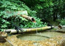 Fontaine en bambou japonaise Photographie stock