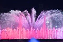 Fontaine en couleurs Photographie stock libre de droits