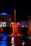 Fontaine en couleurs Photo stock