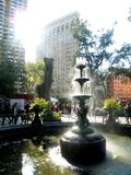 Fontaine en Madison Square Park Photographie stock