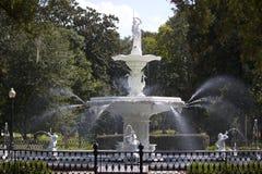Fontaine en parc de Forsyth Image libre de droits