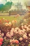 Fontaine en parc de VDNKH, Moscou Photos libres de droits