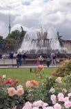Fontaine en parc de VDNKH, Moscou Images libres de droits