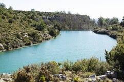 Fontaine et marais de Camarillas Photo stock