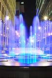 Fontaine illuminée Photos libres de droits