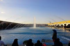 FONTAINE ISPHAHAN de PLACE de Naqsh-e JAHAN Photos stock