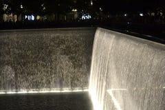Fontaine mémorial du 11 septembre Images libres de droits