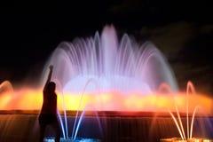 Fontaine magique de Montjuic Photo libre de droits
