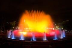 Fontaine magique de Montjuic Images stock