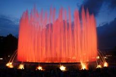 Fontaine magique de Montjuic Image libre de droits