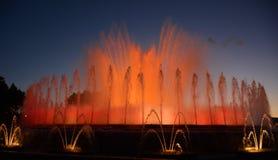 Fontaine magique de Montjuic Photographie stock