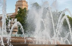 Fontaine magique de Montjuic Barcelone catalonia photos libres de droits