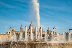 Fontaine magique de Montjuic Barcelone catalonia photos stock