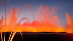Fontaine magique de Montjuic, Barcelone, Espagne Photos libres de droits