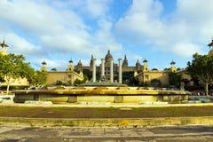 Fontaine magique, point de repère, Espagne. Image libre de droits
