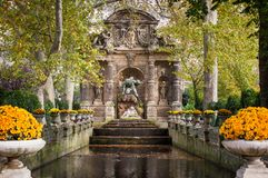 Fontaine Medicis, Paris. Medici Fountain in the Luxembourg Garden, Paris Royalty Free Stock Images