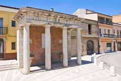 Fontaine monumentale. Biccari. La Puglia. L'Italie. images stock