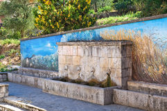 Fontaine monumentale Satriano di Lucania l'Italie Photo stock