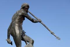 Fontaine Neptune, Danzing, Danzig, Pologne Images libres de droits