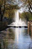 Fontaine Nimes Frankrike Arkivfoto