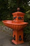 Fontaine orange Photo libre de droits