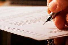 Fontaine Pen Signature photo libre de droits