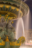 Fontaine Place de la Concorde at night Paris Royalty Free Stock Image