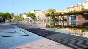 Fontaine on Place Massena in Nice stock video footage