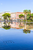 Fontaine on Place Massena in Nice Stock Photography
