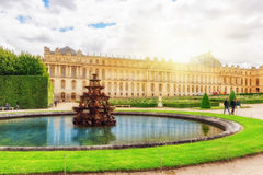 Fontaine Pyramid in a beautful and Famous Gardens of Versailles Royalty Free Stock Photography