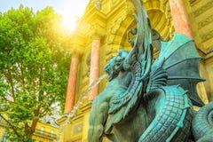 Fontaine Saint-Michel Παρίσι Στοκ Εικόνα