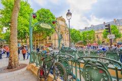 Fontaine Saint-Michel Παρίσι Στοκ φωτογραφία με δικαίωμα ελεύθερης χρήσης