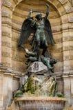 Fontaine Saint-Michel, Paris Stock Photo