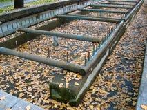 Fontaine sans eau Photographie stock libre de droits