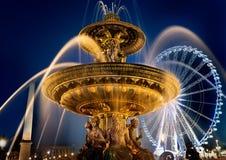 Fontaine sur la place de Concorde Image stock