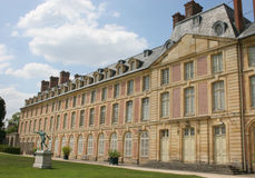 Fontainebleau. Chateau de Fontainebleau outside of Paris, France Royalty Free Stock Images