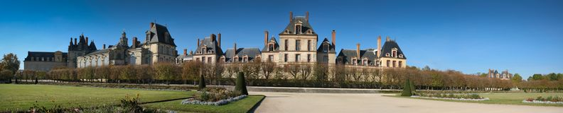 Fontainebleau Castle Panorama Royalty Free Stock Image