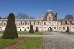 Fontainebleau castle Stock Images