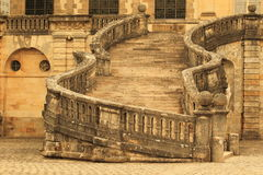 Fontainebleau chateau staircase Royalty Free Stock Photography