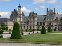 Fontainebleau ( France). Garden of the ancient Fontainebleau palace, in France Stock Image