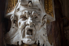 Fontainebleau, France - 15 August 2015 : Details, statue and furniture Royalty Free Stock Photo