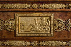 Fontainebleau, France - 15 August 2015 : Details, statue and furniture Stock Image