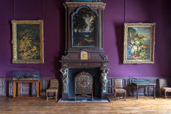 Fontainebleau, France - 16 August 2015 : Interior view Royalty Free Stock Photos